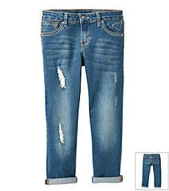 Vigoss® Girls' 7-16 Roll Cuff Boyfriend Jeans