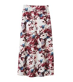 Amy Byer Girls' 7-16 Floral Print Maxi Skirt