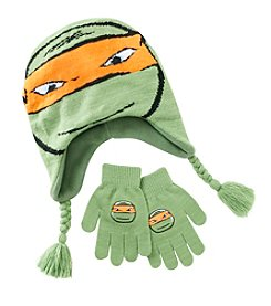 Teenage Mutant Ninja Turtles® Boys' Michelangelo Peruvian Hat And Gloves