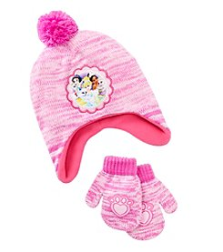 Disney® Girls' Princess Pets Hat And Mittens
