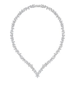 Swarovski® Silvertone Diapason All Around V Crystal Necklace