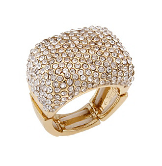 Erica Lyons® Goldtone Wrapping Rectangle Stretch Ring