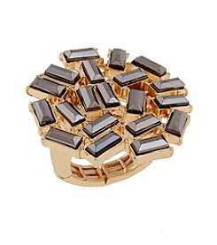 Erica Lyons® Two Tone Circle Fashion Stretch Ring