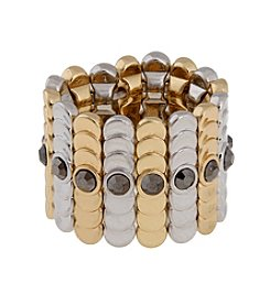 Erica Lyons® Two Tone Wide Band Fashion Stretch Ring