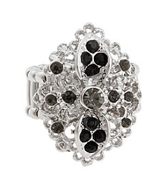 Erica Lyons® Silvertone Circle Fashion Stretch Ring