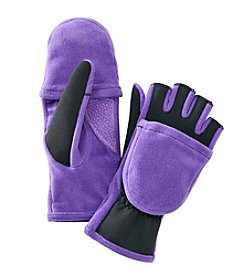 Isotoner Signature® Spandex/fleece Convertible Flip Top Gloves