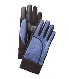 Isotoner Signature® Heathered Softshell Gloves With Fleece Cuff