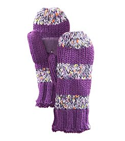 Isotoner® Women's Signature Novelty Sequin Knit Mittens with Suede Palm Patch