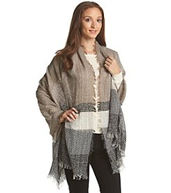 Steve Madden Stripy Light-weight Boucle Day Wrap
