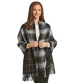 Steve Madden Reversible Plaid Blanket Wrap