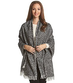 Steve Madden Heathered Boucle Blanket Wrap