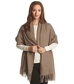 Steve Madden Lurex Boucle Blanket Wrap