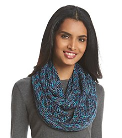 Steve Madden Mini Fishnet Infinity Spacedyed Scarf