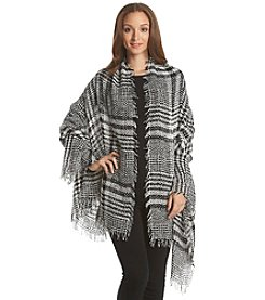 Steve Madden Houndstooth Light Weight Boucle Day Wrap