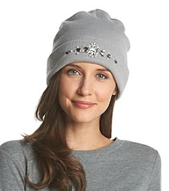 Betsey Johnson® Gem Motif Beanie Hat