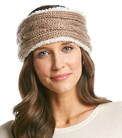 Cejon® Cable Knit Mixed Media Headband