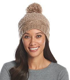 Cejon® Cable Knit Mixed Media Beanie
