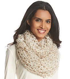 Cejon® Loose Weave With Lurex Infinity Scarf