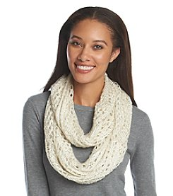 Cejon® Crochet With Sequins Infinity Scarf