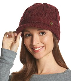 MICHAEL Michael Kors® Cable Knit Belt Peak Hat