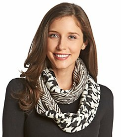MICHAEL Michael Kors® Houndstooth Twill Raschel Small Infinity Scarf