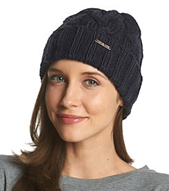 MICHAEL Michael Kors® Cable Knit Hat With Fold Up Cuff
