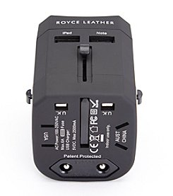 Royce® Leather International Travel Adapter Plug