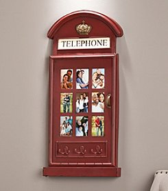 Southern Enterprises Phone Booth Wall Mount Photo Collage Frame