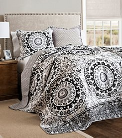 Lush Decor Laurelwood Circle 3-pc. Quilt Set