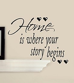 RoomMates Peel & Stick Wall Decal Home is Where Your Story Begins Quote