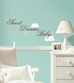 RoomMates Sweet Dreams Baby Peel & Stick Wall Decals