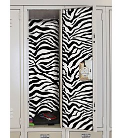 RoomMates Black and White Zebra Locker Skins