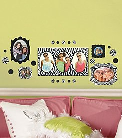 RoomMates Zebra Frames Peel and Stick Wall Decals