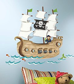 RoomMates Pirate Ship Giant Peel & Stick Wall Decals