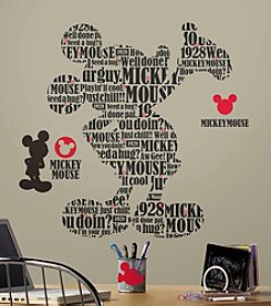 RoomMates Disney® Mickey Mouse Typography Giant Peel & Stick Wall Decals
