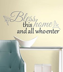 RoomMates Bless this Home Peel and Stick Wall Decals