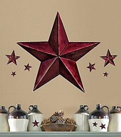 RoomMates Burgundy Barn Star Giant Peel and Stick Wall Decals