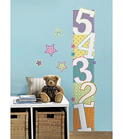 RoomMates Patterned Numbers Growth Chart Peel and Stick Wall Decals