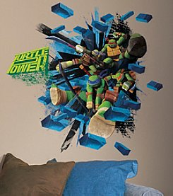 RoomMates Teenage Mutant Ninja Turtles Brick Poster Giant Peel & Stick Wall Decals