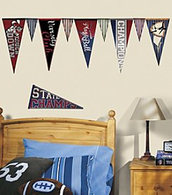 RoomMates Varsity Pennants Peel & Stick Wall Decals