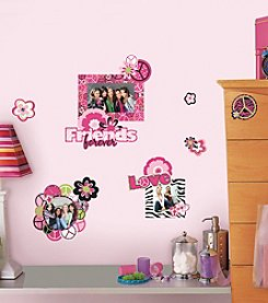 RoomMates Peace Sign Frames Peel and Stick Wall Decals