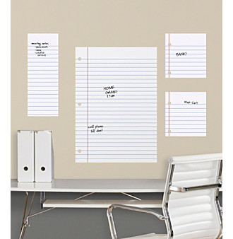RoomMates Dry Erase Notebook Paper Giant Peel & Stick Wall D