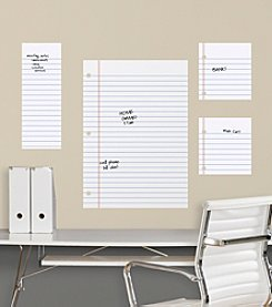 RoomMates Dry Erase Notebook Paper Giant Peel & Stick Wall Decals
