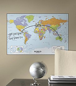 RoomMates Dry Erase World Map Giant P&S Wall Decal