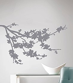 RoomMates Grey Silhouette Blossom Branch Peel & Stick Wall Decals