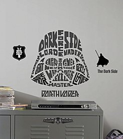 RoomMates Star Wars™ Typographic Darth Vader Giant P&S Wall Decals