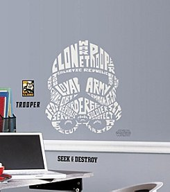 RoomMates Star Wars™ Typographic Clone Trooper Giant P&S Wall Decals