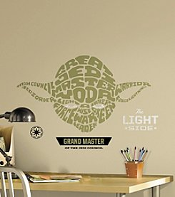 RoomMates Star Wars™ Typographic Yoda Giant P&S Wall Decals