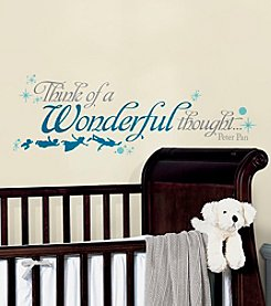 RoomMates Peter Pan Wonderful Thought Peel & Stick Wall Decals