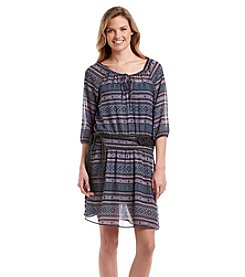 Wallflower® Belted Peasant Dress